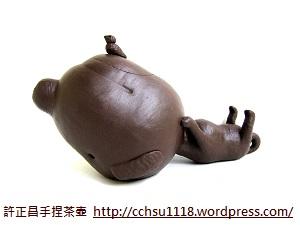 大頭狗造型茶壺